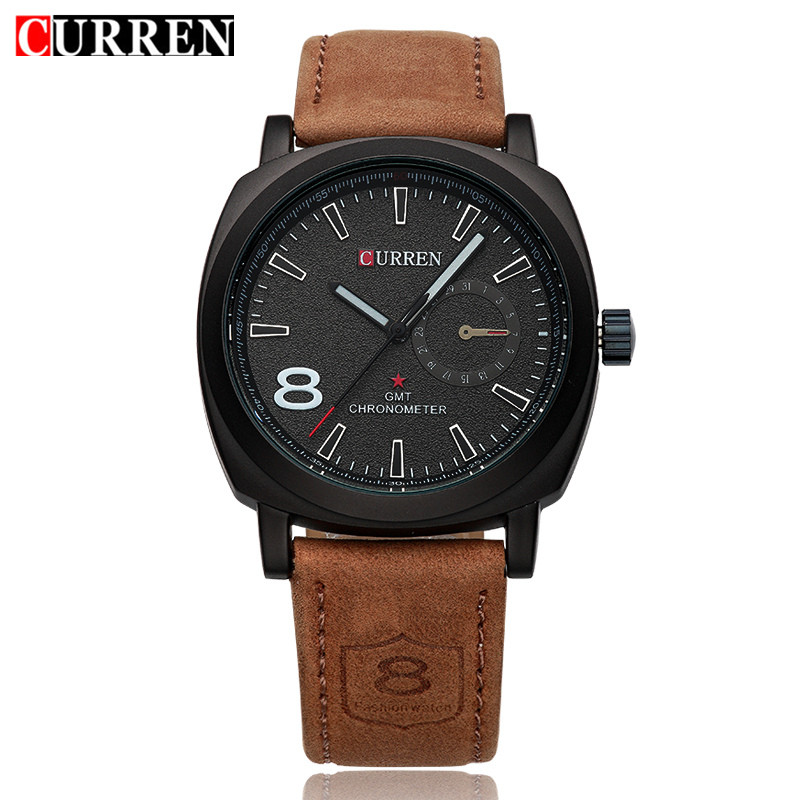 LUXURY Curren Brand gold sport Watches font b Men b font leather watch women Wristwatches Christmas
