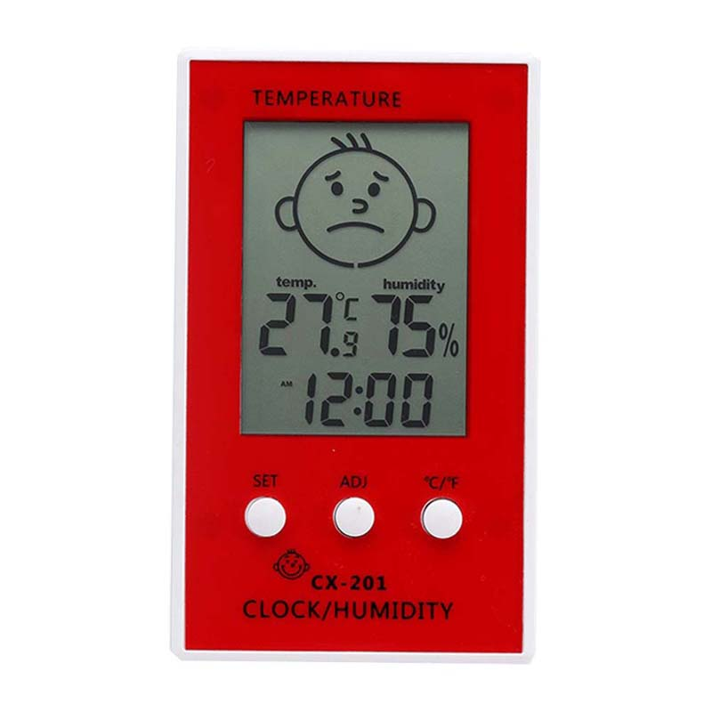 Home child gifts Electronic Thermometer and Hygrometer With Smiley Digital Display temperature humidity Clock display