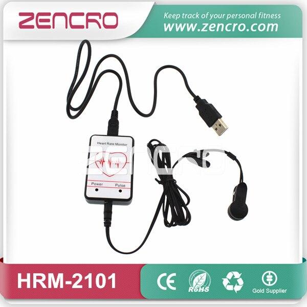 imágenes para USB dedo/earlobe clip sensor de pulso del corazón rate monitor
