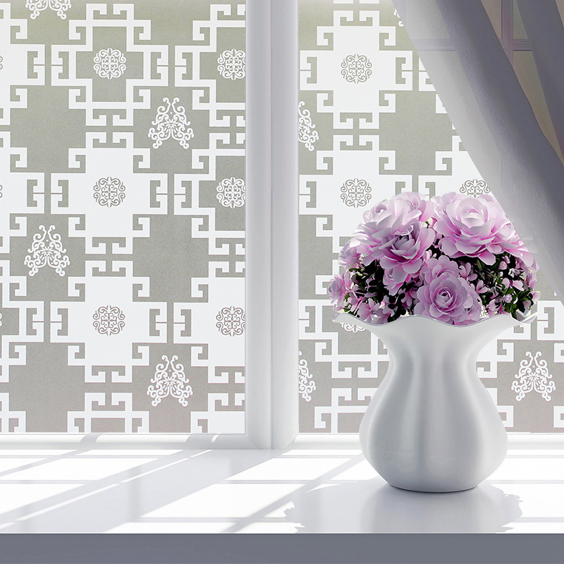Static Cling Removable Decorative Films Window Film Frosted Privacy Glass Sticker Bathroom Slide Door Film 45x100cm