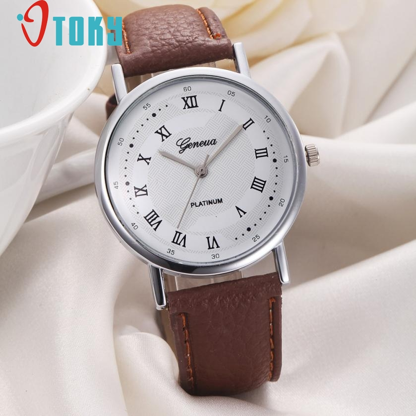 Creative Luxury Fashion Faux Leather Watch Women Leisure Dial Quartz Watch Causal Women Business Wrist Watches relogio feminino