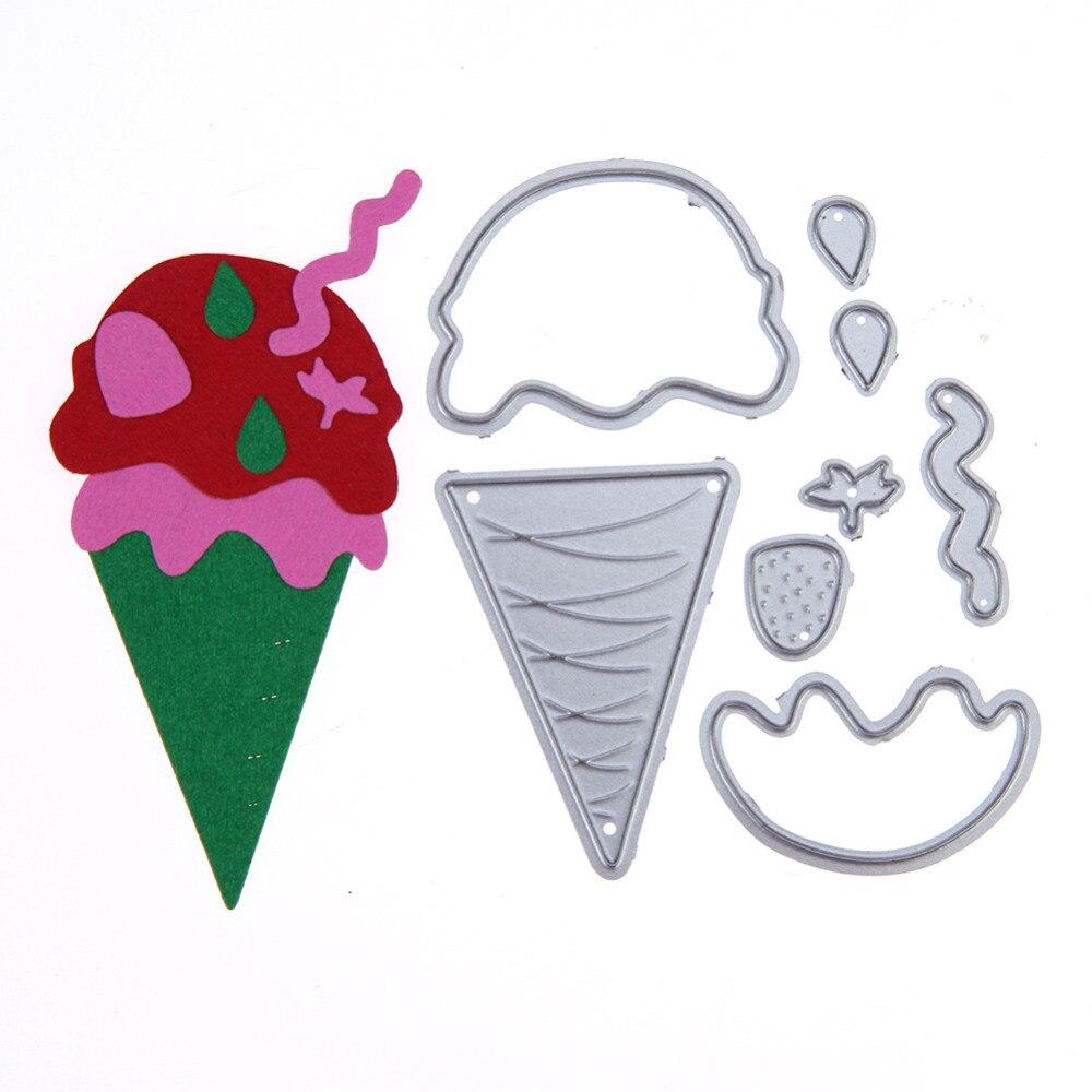 Nuevo helado lindo metal Recortes de papel scrapbooking DIY Relieves ...