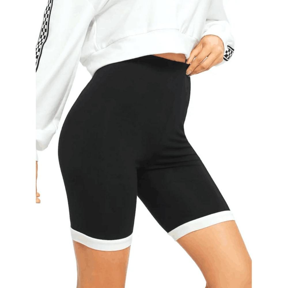Women Solid High Waist Yoga Shorts Breathable Quick Dry Elasticity Athletic Gym Running Dance Fitness Trousers Tights