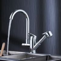Free Shipping Becola New Design Pull Out Kitchen Faucet High Quality Hot And Cold Water Sink