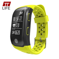 TTLIFE Smart Watch GPS Traker S908 Smart Bracelet Pedometer Waterproof Heart Rate Monitor Touch Watches Men