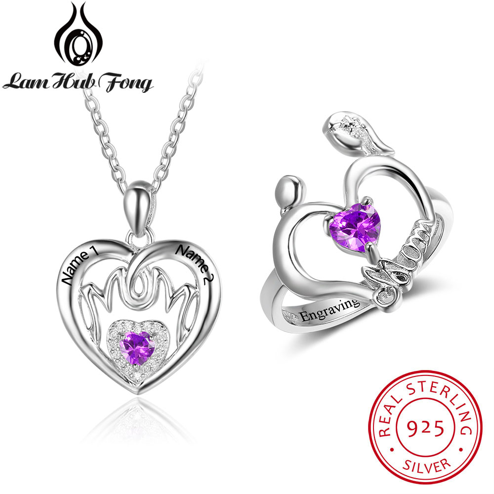 18th Birthday Necklace Sterling Silver Custom Birthstone: Personalized 925 Sterling Silver Fine Jewelry Sets 12