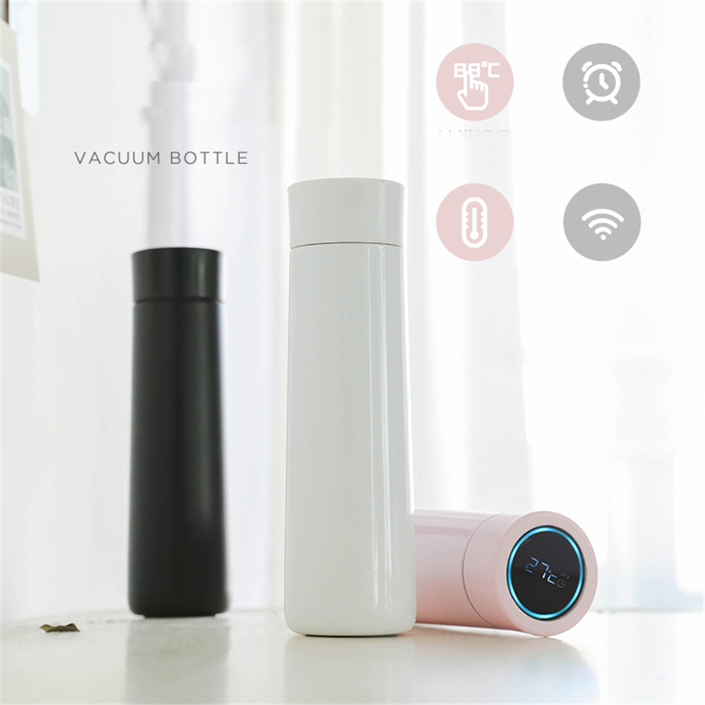 Healthy Smart font b vacuum b font insulation bottle with Water Drinking Reminder LED Temperature Touch