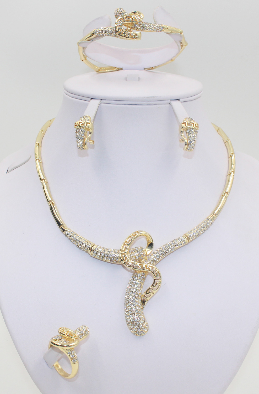 Dubai bride wedding dress 2015 new design jewelry sets high ...