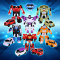 8pcs/set Min Tobot Transformation Robot Action Figure Anime Tobot Deformation Robot Cars Toys for Kids Education Toy Gifts