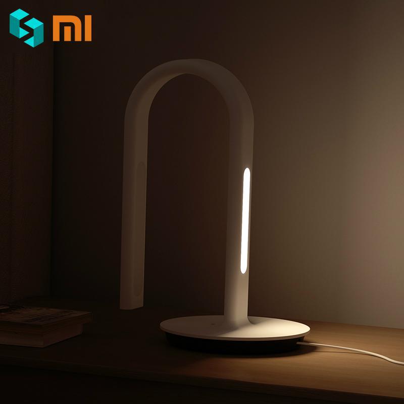 Original Xiaomi Mijia Desk Lamp 2nd Smart LED Light Mi Mijia Eyecare Table Lamp 4000K 10W Dual light APP Control for Smart Phone xiaomi mijia mjtd01yl lamp smart led desk