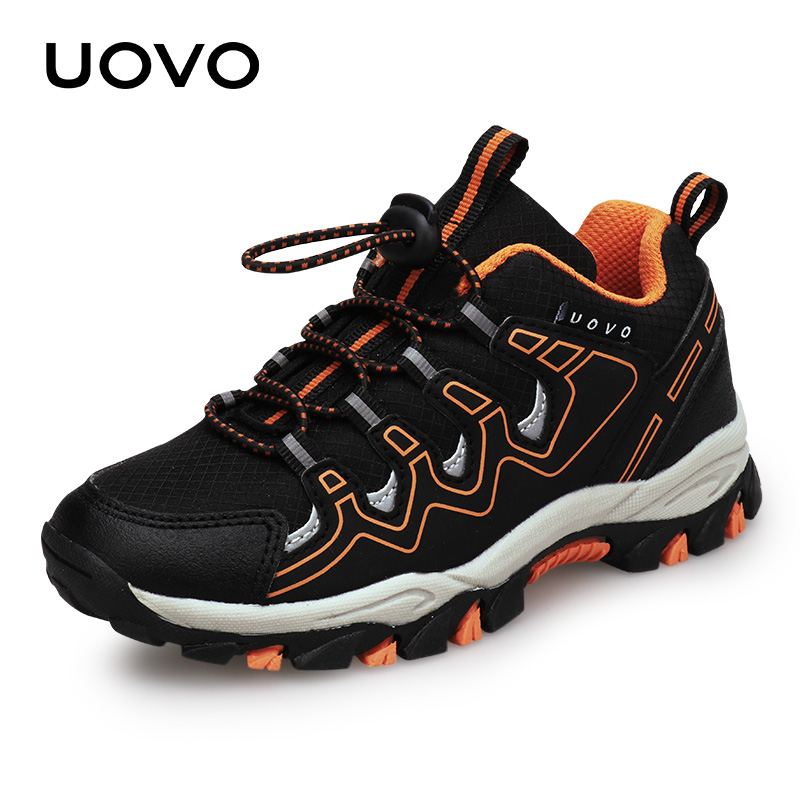 UOVO 2020 New Boys Sports Shoes Autumn Children Outdoor Shoes Breathable Kids Hiking Shoes Spring And Autumn Sneakers Eur #28-39