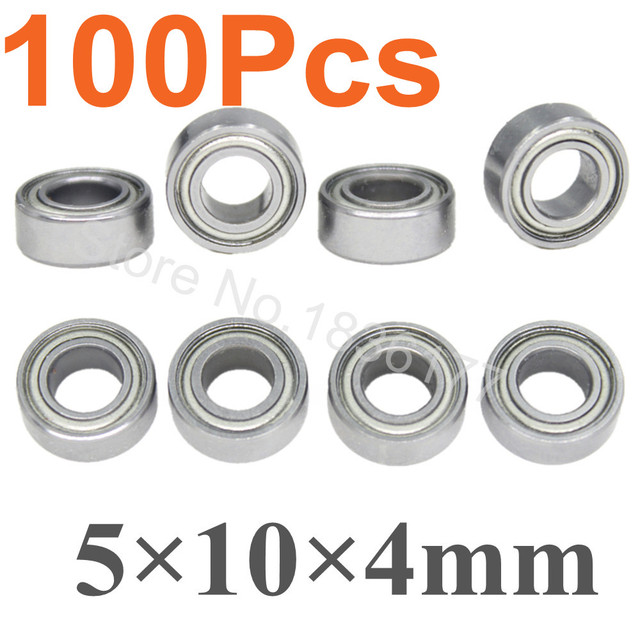 100pcs Metal Shield Ball Bearing 5x10x4mm For Traxxas Hpi