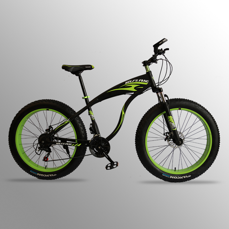 wolf s fang Mountain Bike bicycle fat bike 21 speed Aluminum alloy frame 26 inch road wolf's fang Mountain Bike bicycle fat bike 21 speed Aluminum alloy frame 26 inch  road Snow bikes Man Free shipping