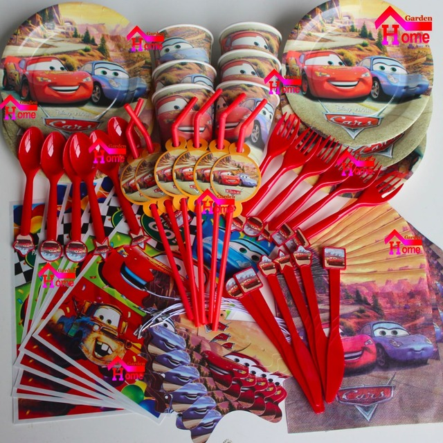 116pcs Cars New Kids Birthday Party Decoration Set Birthday Cars