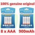 8 pçs/lote Original AAA 1.2 V 900 mAh Para bateria recarregável AAA Ni-MH enelong
