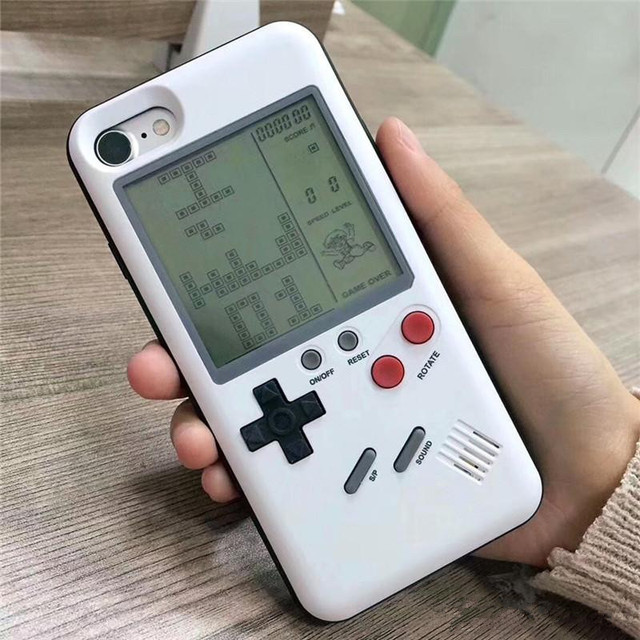 High Quality Retro game tetris cases for Iphone X iphone 6 /6 plus 7 8 plus TPU Phone back game consoles Cover for iPhone Case