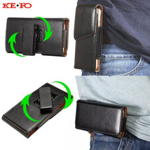 2ebf50ba404e KEFO Belt Clip Holster PU Leather Pouch bag Universal Waist Case Cover For Huawei  Y3 II Y5 II Y6 II Y3 Y5 Y6 2017 Coque Fundas
