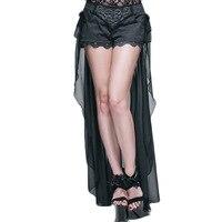 Steampunk גותי שמלת קיץ אישה מכנסי גבוה מותן מכנסיים 2017 בגדי מעצבות סקסי קצר עם זנב ארוך זול--סין