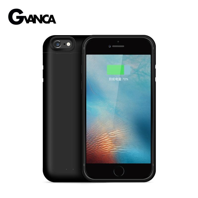 imágenes para Para el iphone iPhone 6 Más 6 s Más Extendida de La Batería Del Cargador de Batería 8000 mAh Caso de la Energía Inalámbrica Powerbanks Max 1A de Salida