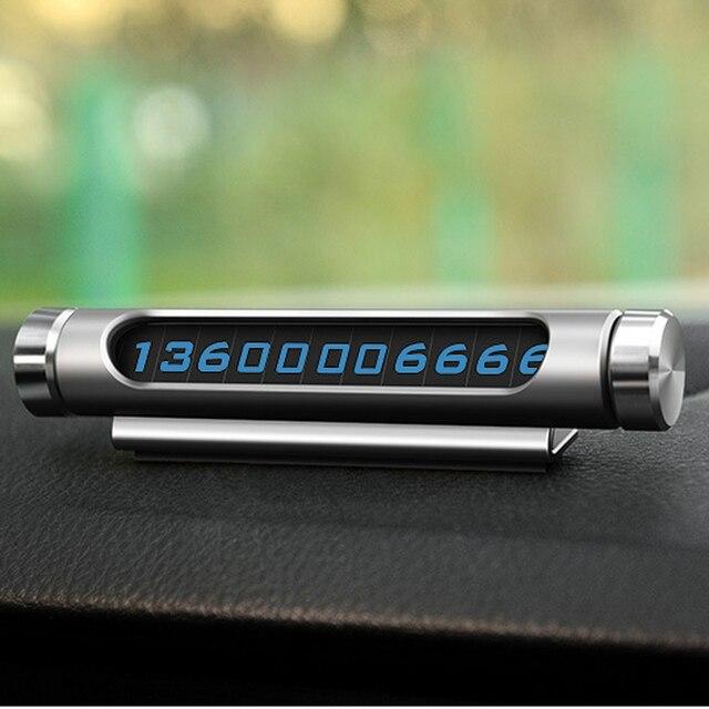 רכב חניה כרטיס זוהר Rotatable עבור הונדה סיוויק אקורד crv fit ג 'אז עיר הורנט סובארו פורסטר אימפרזה אאוטבק Legacy XV