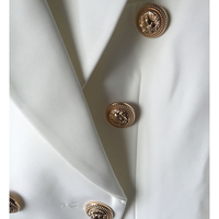 HIGH QUALITY New Fashion 2018 Star Style Designer Blazer Women's Gold Buttons Double Breasted Blazer size S-XXL 5