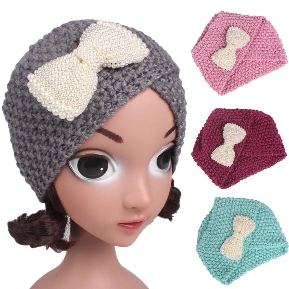 Children Baby Girls Knitting Hat Beanie Turban Head Wrap Cap Pile Cap newborn photography accessories