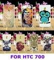 Жесткий Пластик и Мягкий ТПУ Телефон Случаях Корпус Для HTC Desire 700 709D 7088 7060 Задняя Крышка Печати Secret Garden \ Сова Телефон Аксессуары