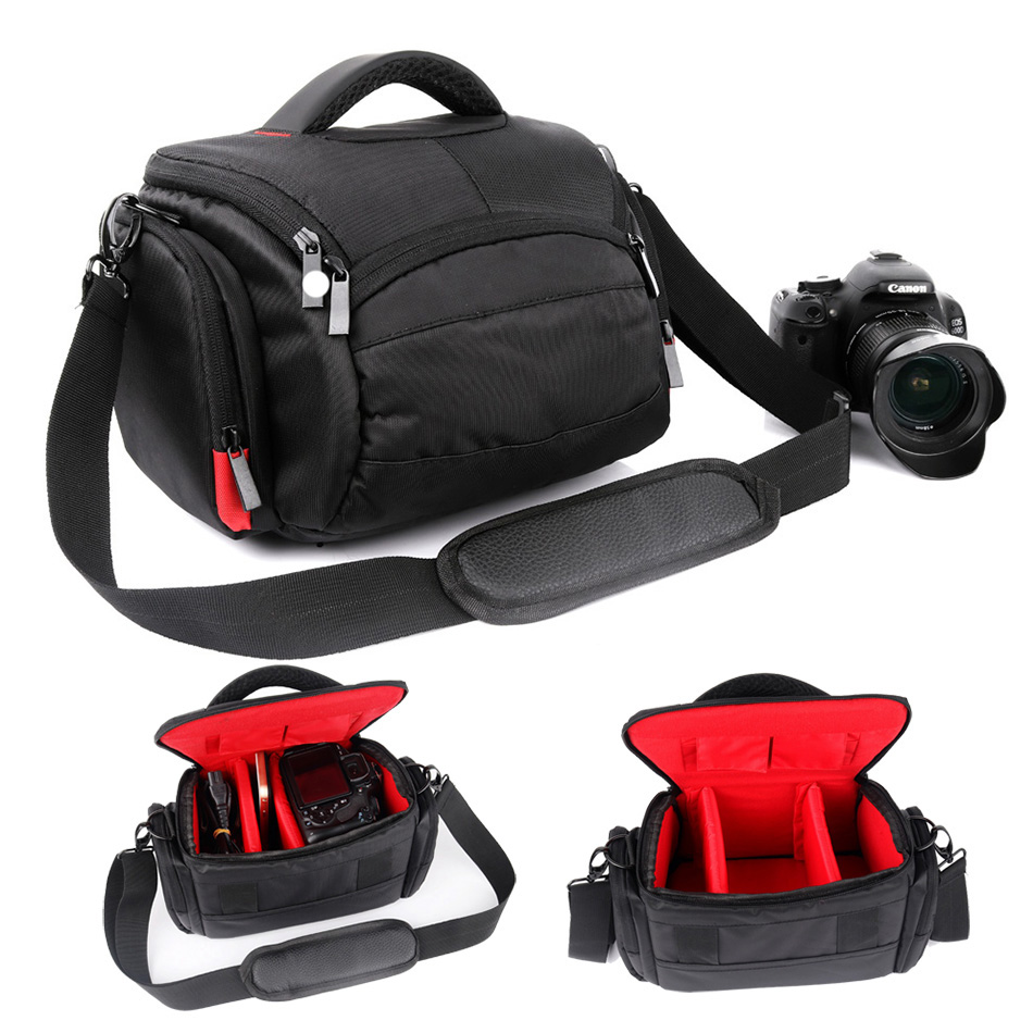 DSLR Camera <font><b>Bag</b></font> Case for Panasonic <font><b>Lumix</b></font> DMC GX80 GH5 GX85 FZ1000 <font><b>LX100</b></font> FZ72 FZ50 FZ60 FZ70 FZ200 FZ300 GH4 SLR Foto Photo <font><b>Bag</b></font> image