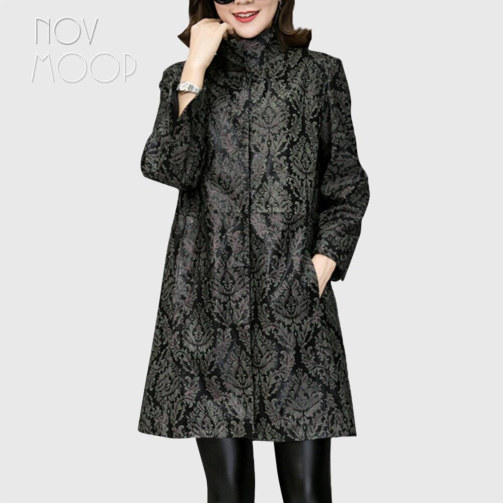 Impressão planta verde vermelho A Linha real da pele de carneiro casaco de couro genuíno casaco de couro outwear plus size casacos LT1874 NAVIO LIVRE