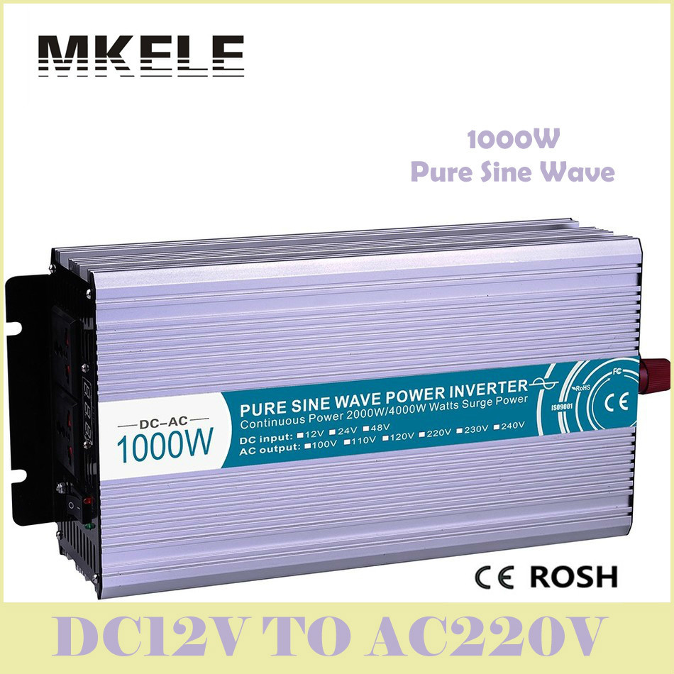 High Quality MKP1000-122 Pure Sine Wave 1000 Watt Inverter 12V 220V Solar Boost Transformer Voltage Converter China