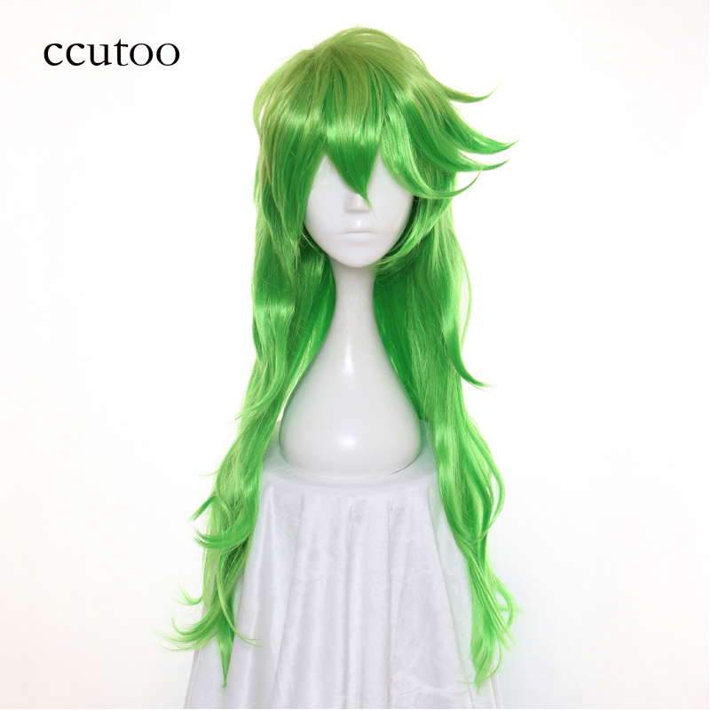 Ccutoo 100cm Silver Grey Blonde Long Straight Synthetic High Temperature Fiber Hair Cosplay Costume Wigs Peluca