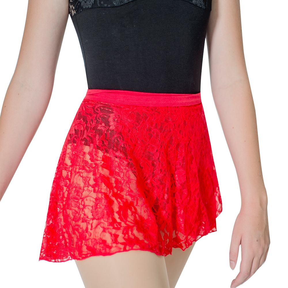 Retail Wholesale Ladies Girls Lace Wrap Dance Skirts Ballet Lyrical Adult One Size image
