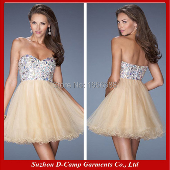 9ef7fd2405455 Free Shipping OD 869 Latest design strapless sexy nude cocktail ...