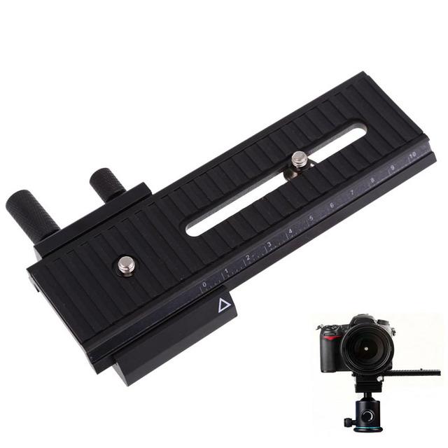 10 cm macro shot enfocarse enfocar cabeza del trípode accesorios de la cámara placa de liberación rápida para canon para nikon para sony dslr cámara