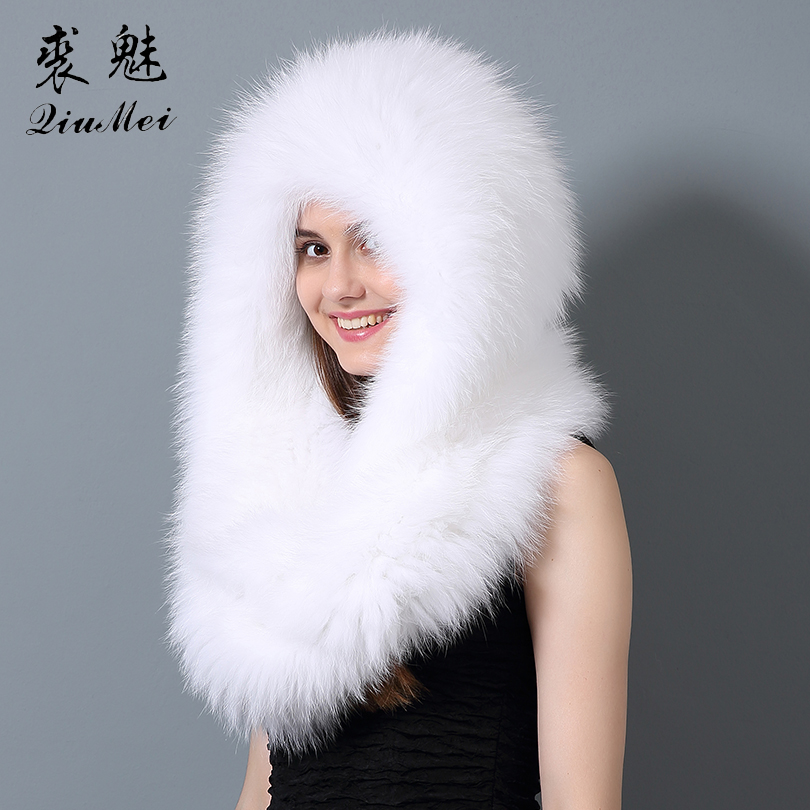 Real Fox Fur   Scarf   Women Winter Warm Long   Scarf   Fashion Ring Luxury Collar   Scarves     Wraps   Female Women Winter   Scarves   Real Fur
