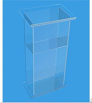Helder acryl lessenaar voor meeting clear perspex rostrum podium lessenaar decoratie tafel meubels