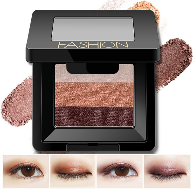 New Arrival Make Up 3 Color Cosmetics Matte Natural Eye Shadow Palette EyeShadow Eyelid Waterproof Eye Makeup maquiagem