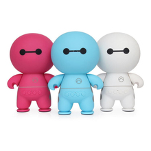 Cute Baymax MIni Portable Bluetooth Speaker Smart Handfree with Microphone Support TF card 3 Colors for Choose