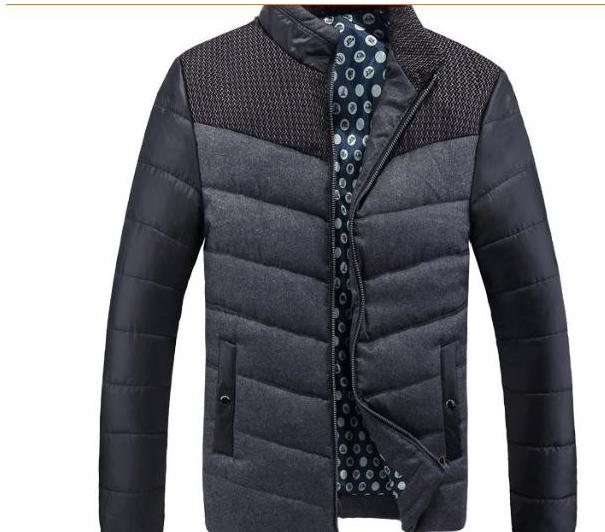 Mens Clothing JACKETS COAT 2016 winter new mens cotton business fit jacket collar mens b ...