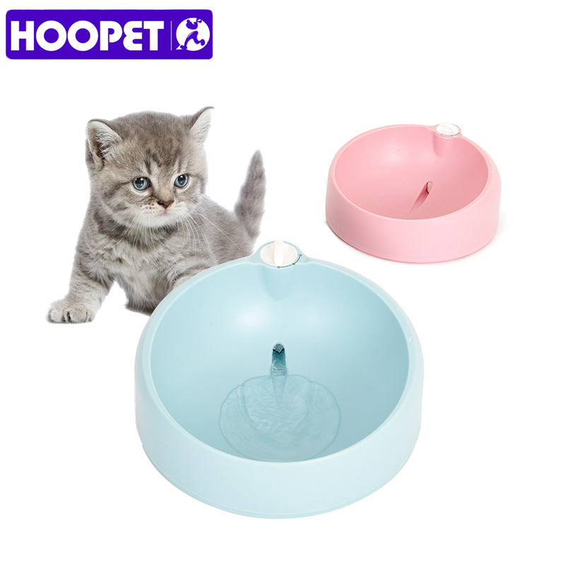 HOOPET Pet Dog Water Bowl Cat Drinking Fountains Water Drop Portable Bowl 2  Colors Big Dog Teddy Cat Drinking Supplies