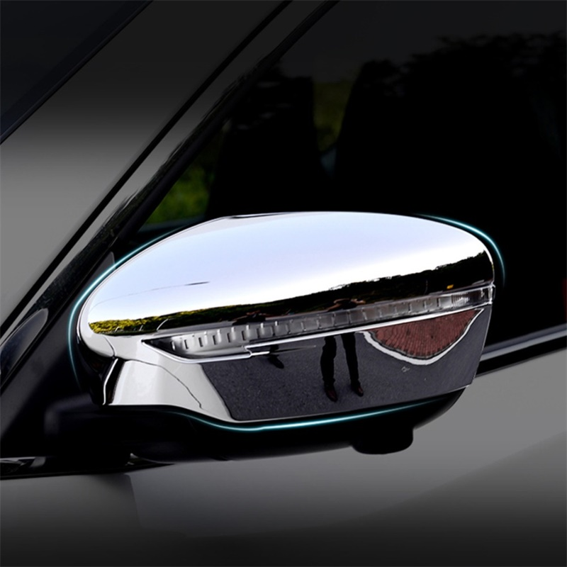 For <font><b>Nissan</b></font> <font><b>Qashqai</b></font> J11 <font><b>2014</b></font> 2015 2016 2017 2018 ABS Chrome Side Wing Door Rearview Mirror Cover Trim Car Styling <font><b>Accessories</b></font> image