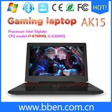Bben windows 10 laptop teclado retroiluminado gaming computer intel skylake i7-6700hq cpu 2.6-3.5 ghz sin ram/rom + no ssd/hdd wifi bt4.0