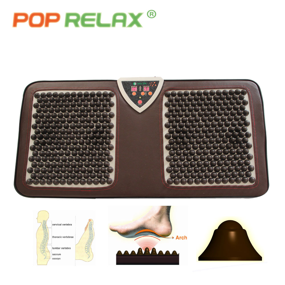 POP RELAX NUGA BEST NM55 tourmaline germanium foot arch acupuncture massage mat second heart electric heating foot massager F01B in Massage Relaxation from Beauty Health