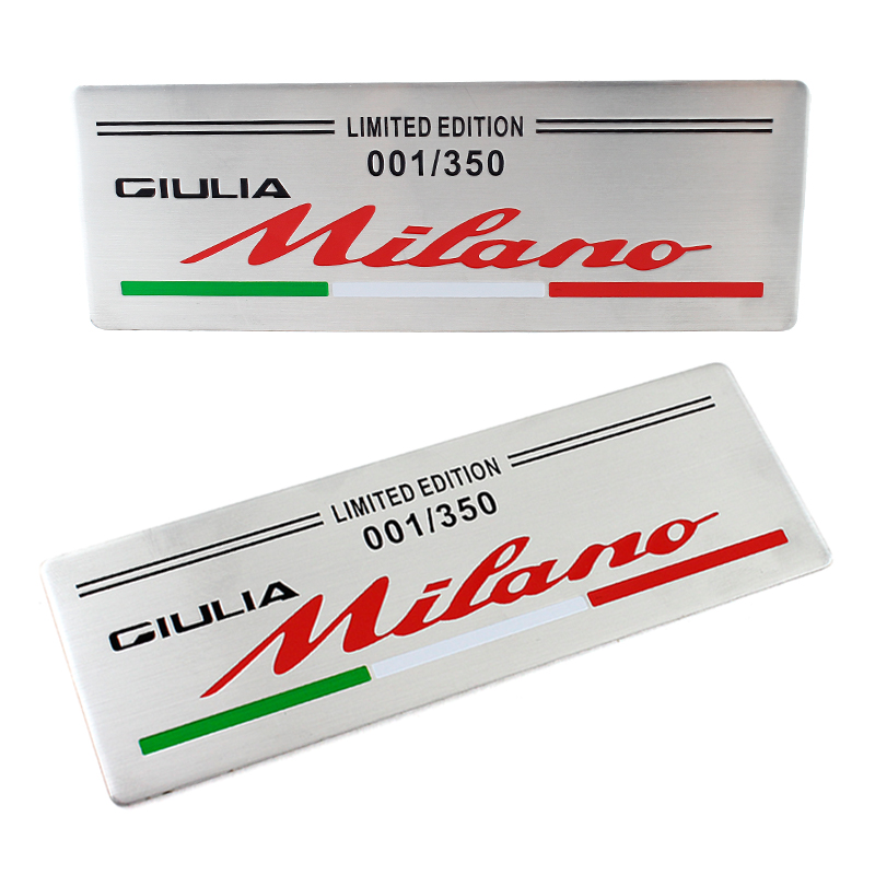 10pcs for ALFA ROMEO limited edition milan 001 Car Logo emblem Badge sticker for Mito 147 156 159 166 Free shipping