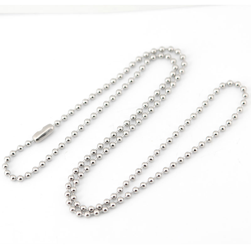 chains sandy silver sterling bead chain necklace mens mm products s men military
