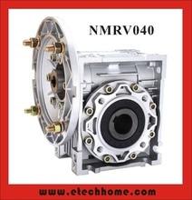 NMRV040 Réducteur À Vis Sans Fin 7.5: 1-100: 1 Ratio 11mm 14mm arbre d'entrée RV40 Worm Boîte De Vitesses vitesse Réducteur