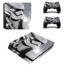 Vinly Звездные войны кожи Стикеры Крышка для sony PS4 тонкий Игровые приставки 4 Slim консоли и 2 контроллера