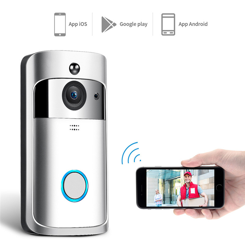 Video Doorbell,WiFi Smart Wireless Doorbell 720P HD Security Camera Real-Time Video and Two-Way Talk, Night Vision, PIR Motion DVideo Doorbell,WiFi Smart Wireless Doorbell 720P HD Security Camera Real-Time Video and Two-Way Talk, Night Vision, PIR Motion D
