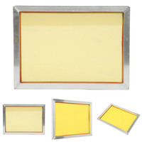 1pc Stable Aluminum Silk Screen Printing Frame 27x39cm With 120t 300 TPI Yellow Mesh For Making
