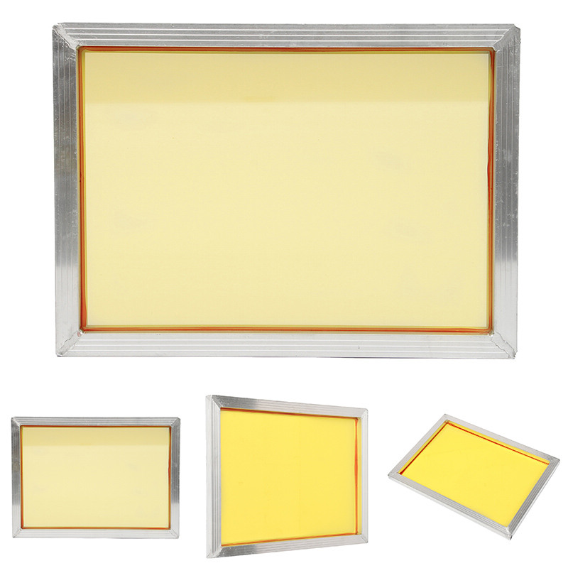 1pc stable aluminum silk screen printing frame 27x39cm with 120t 300 tpi yellow mesh for making. Black Bedroom Furniture Sets. Home Design Ideas